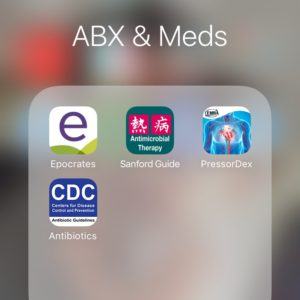 Apps for Medications and Antibiotics