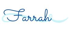 Signature for Farrah