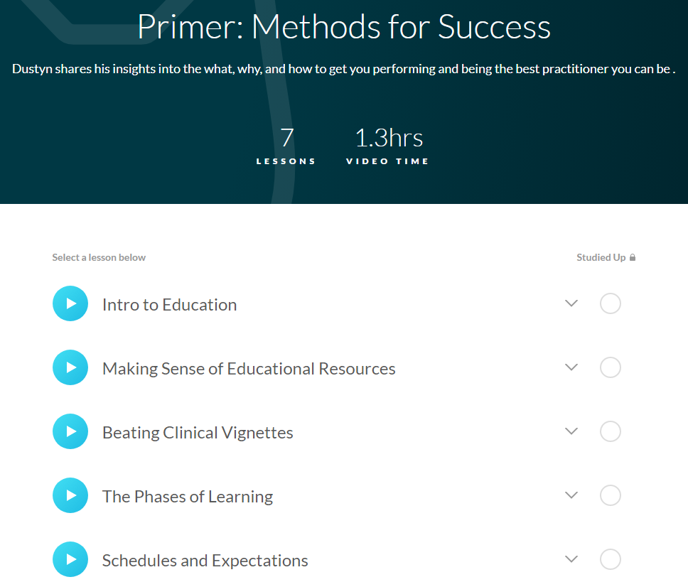 Primer / Methods for Success