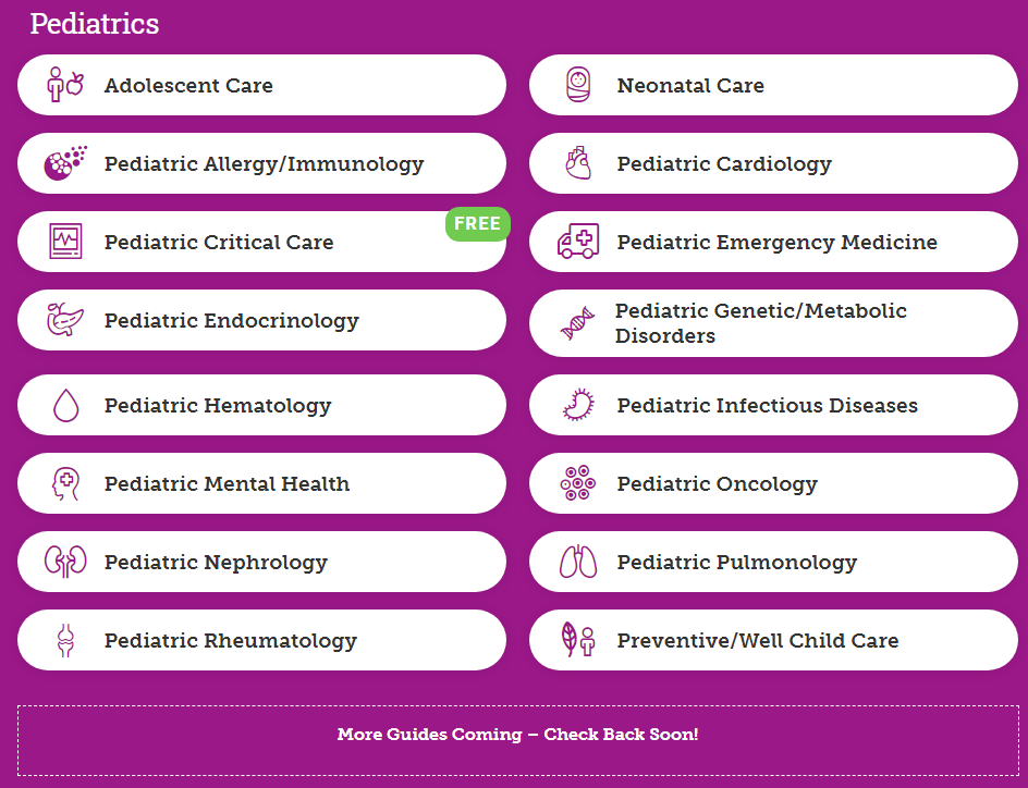 NEJM 360 - Pediatrics Rotation List