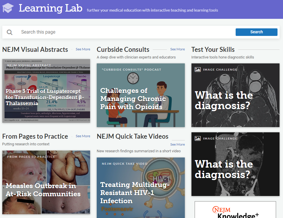 NEJM 360 - Learning Lab